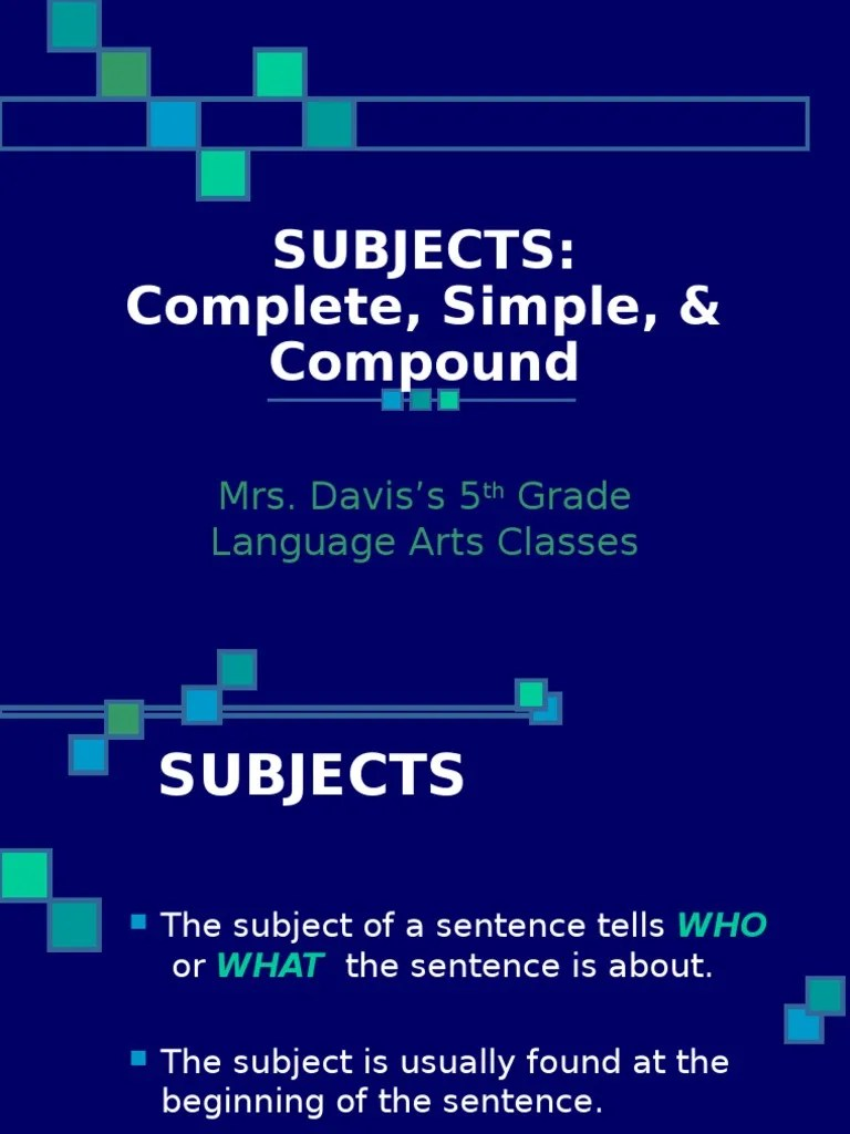 medium resolution of Subjects: Complete