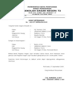 Contoh Surat Pensiun Karyawan Swasta : contoh, surat, pensiun, karyawan, swasta, Surat, Keterangan, Pensiun
