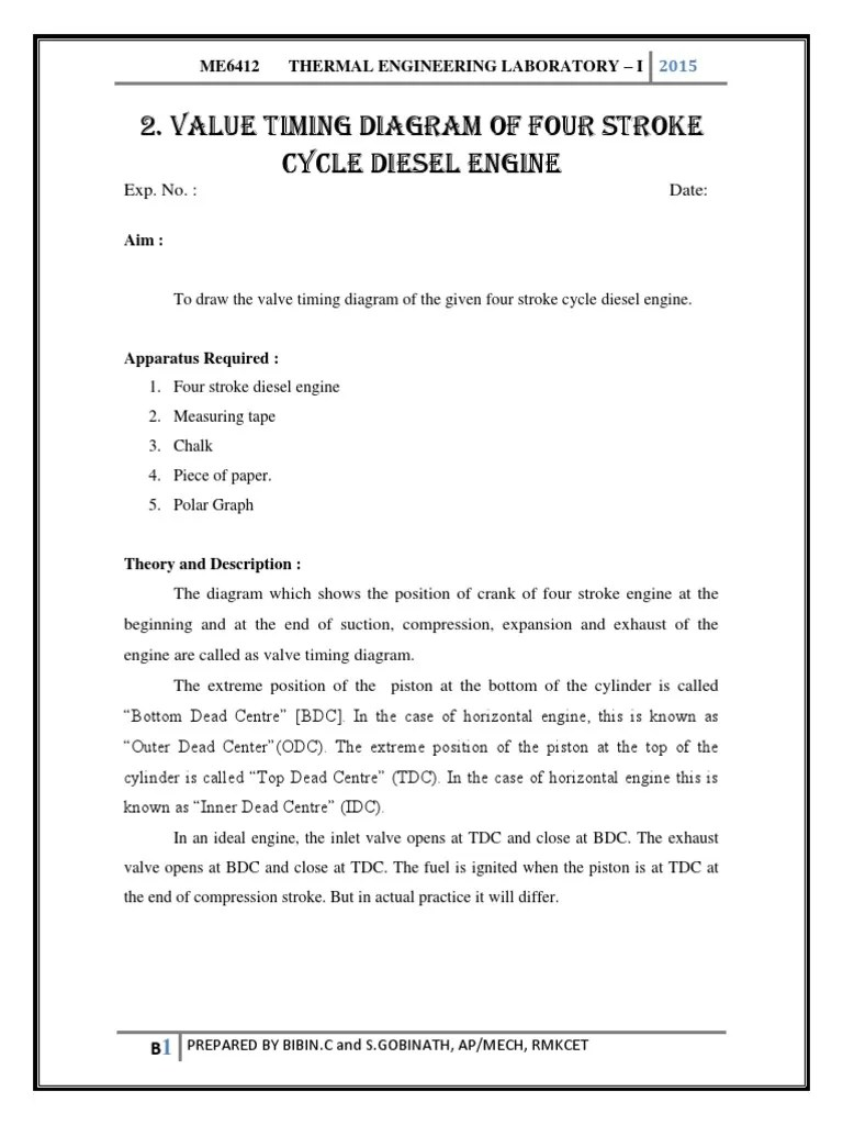 hight resolution of value timing diagram of four stroke cycle diesel engine piston diesel engine