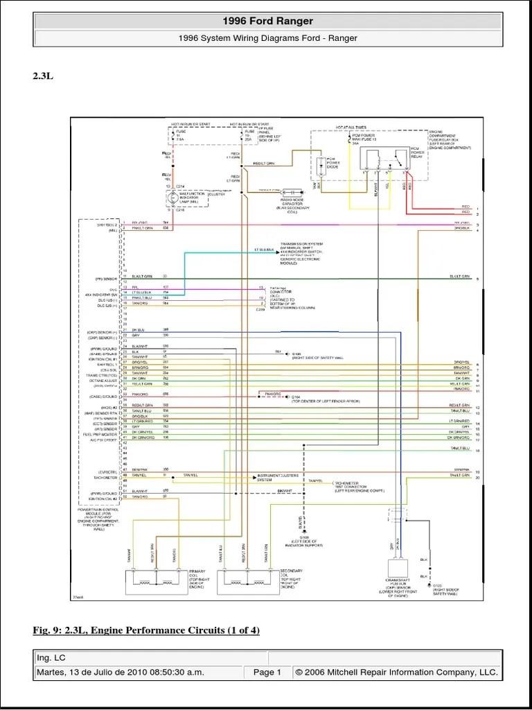 hight resolution of 01 ford v 1996 ranger 2 3l 8 bujias 2000 ford ranger radio wiring