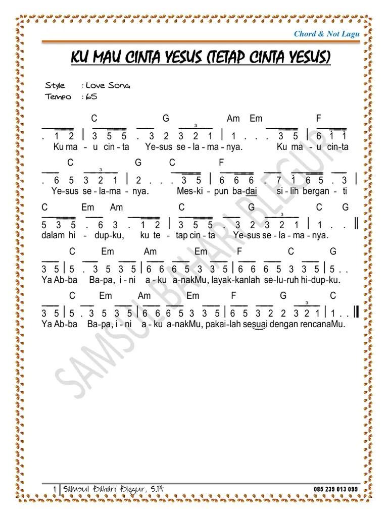 Lirik Ku Mau Cinta Yesus : lirik, cinta, yesus, Cinta, Yesus
