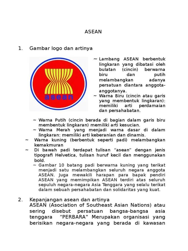 Gambar Logo Asean : gambar, asean, Materi, ASEAN