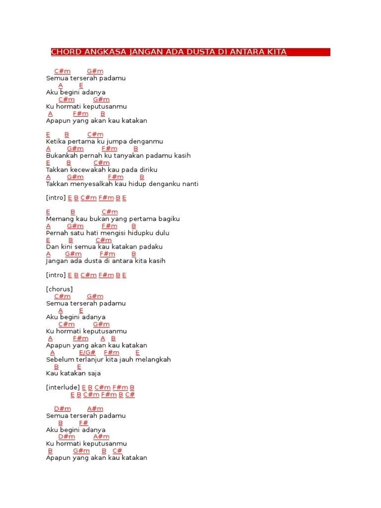 Lirik Jangan Ada Dusta : lirik, jangan, dusta, Lirik, Chord, Jangan, Dusta, Diantara, Dalam