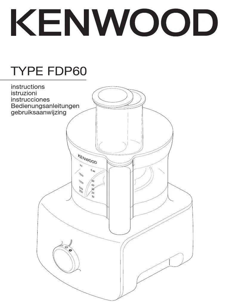 Kenwood Blender Fdp60 Multi