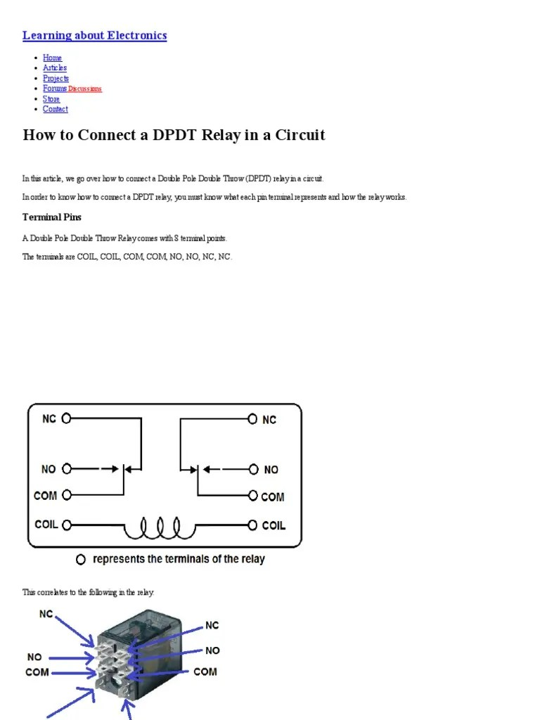 hight resolution of double pole double through contact diagram