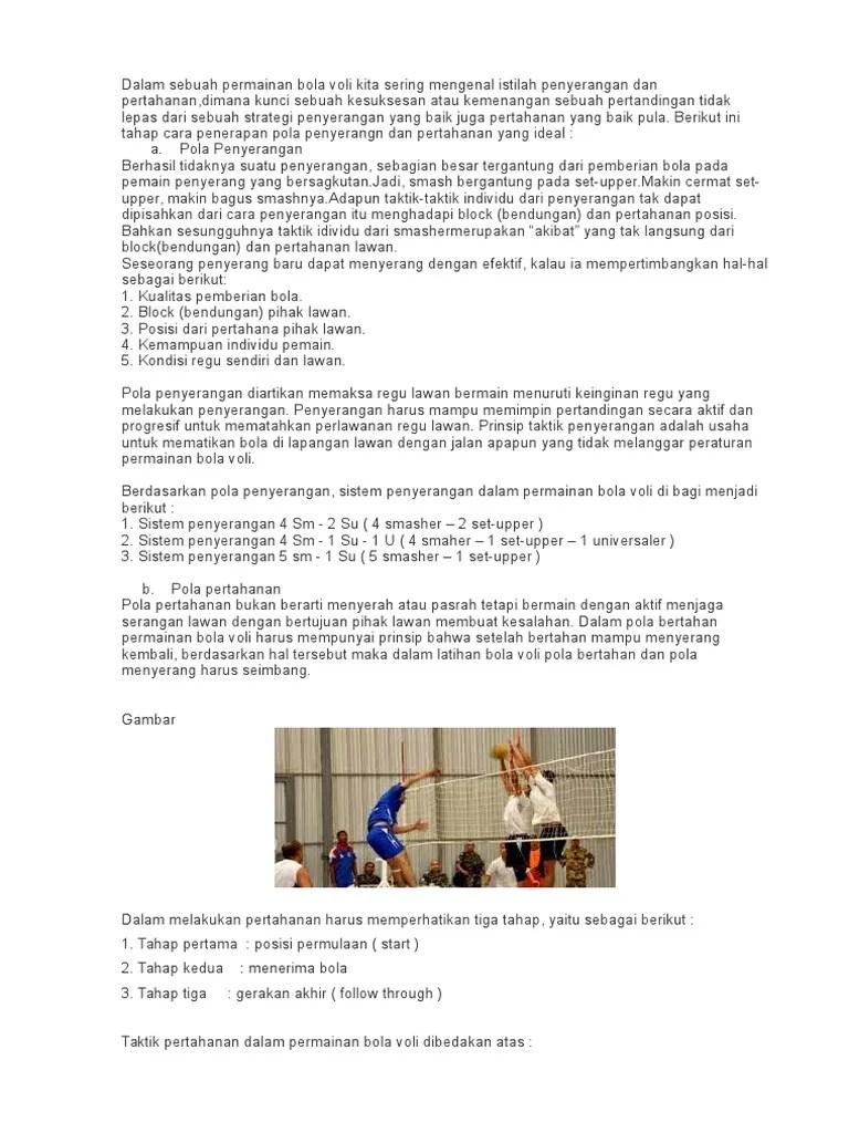 Taktik Dalam Permainan Bola Voli : taktik, dalam, permainan, Taktik, Penyerangan, Pertahanan