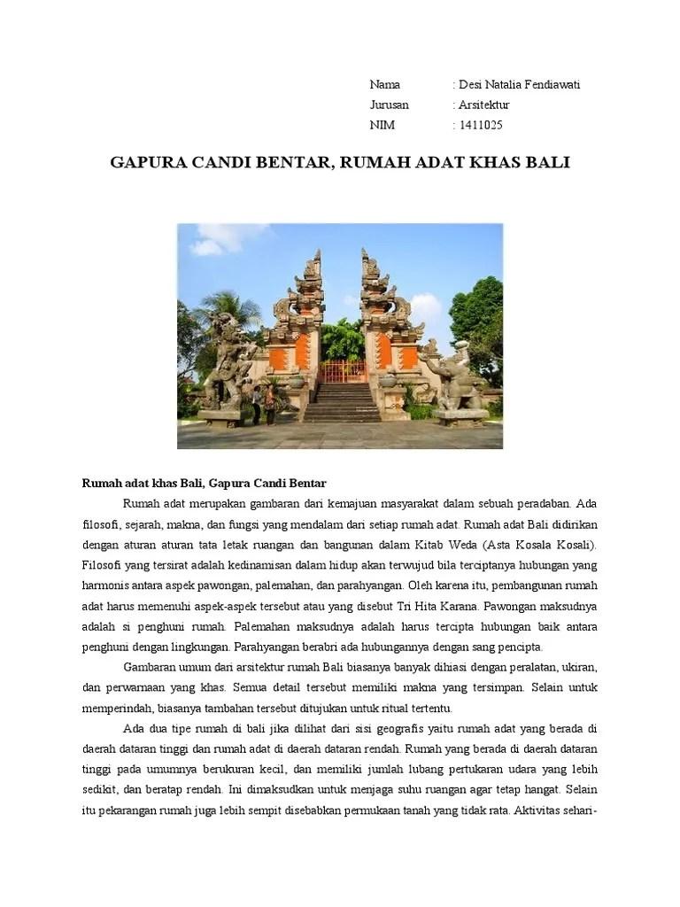 Rumah Adat Bali Gapura Candi Bentar : rumah, gapura, candi, bentar, Gapura, Candi, Bentar