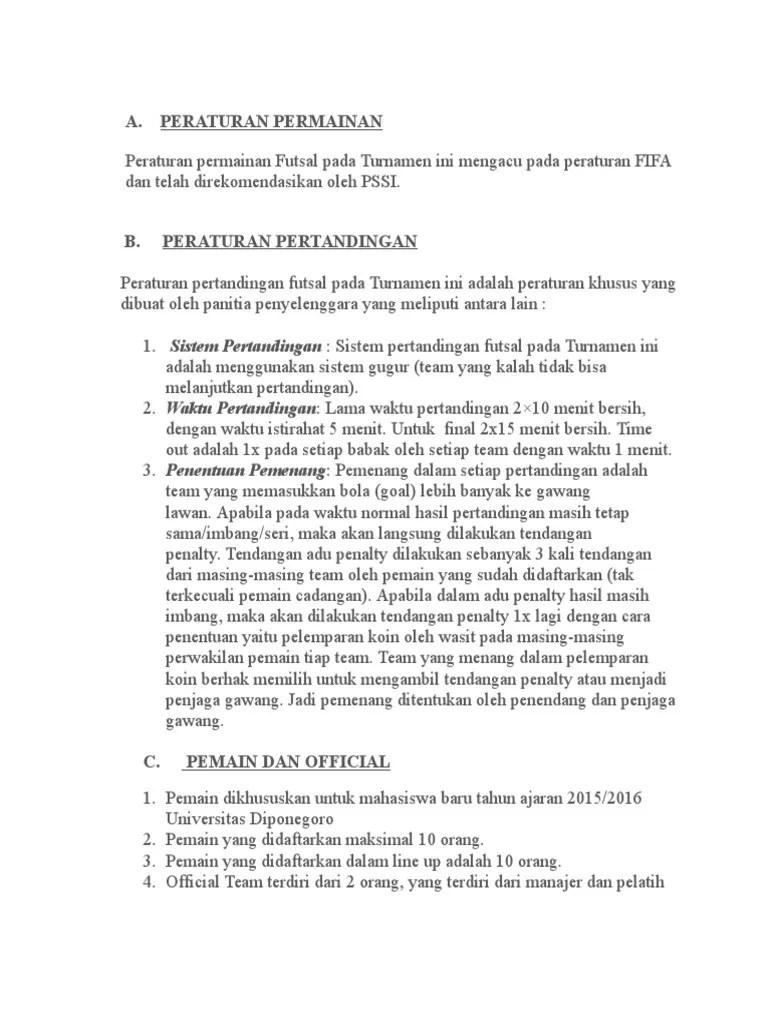 Peraturan Permainan Futsal : peraturan, permainan, futsal, Peraturan, Futsal, Electricup