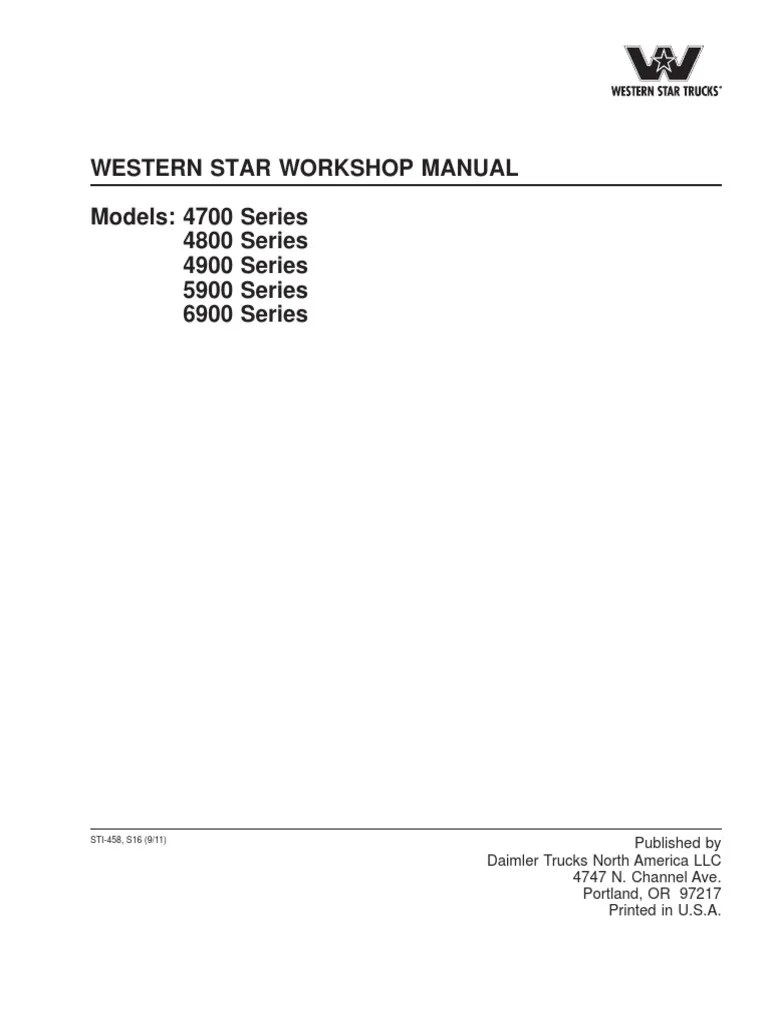 medium resolution of western star workshop manual 2005 western star ac wiring diagram western star ac wiring