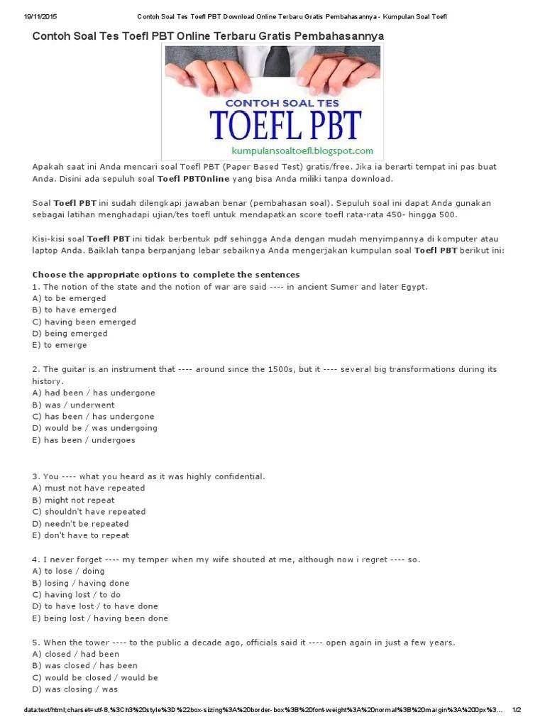 Contoh Soal Tes Toefl : contoh, toefl, Contoh, TOEFL, Download, Online, Terbaru, Gratis, Pembahasannya, Kumpulan, Violence, Social, Institutions