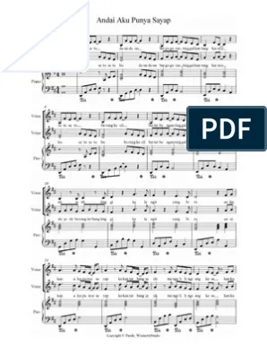 Chord Seandainya Aku Punya Sayap : chord, seandainya, punya, sayap, Partitur, Balok, Andai, Punya, Sayap