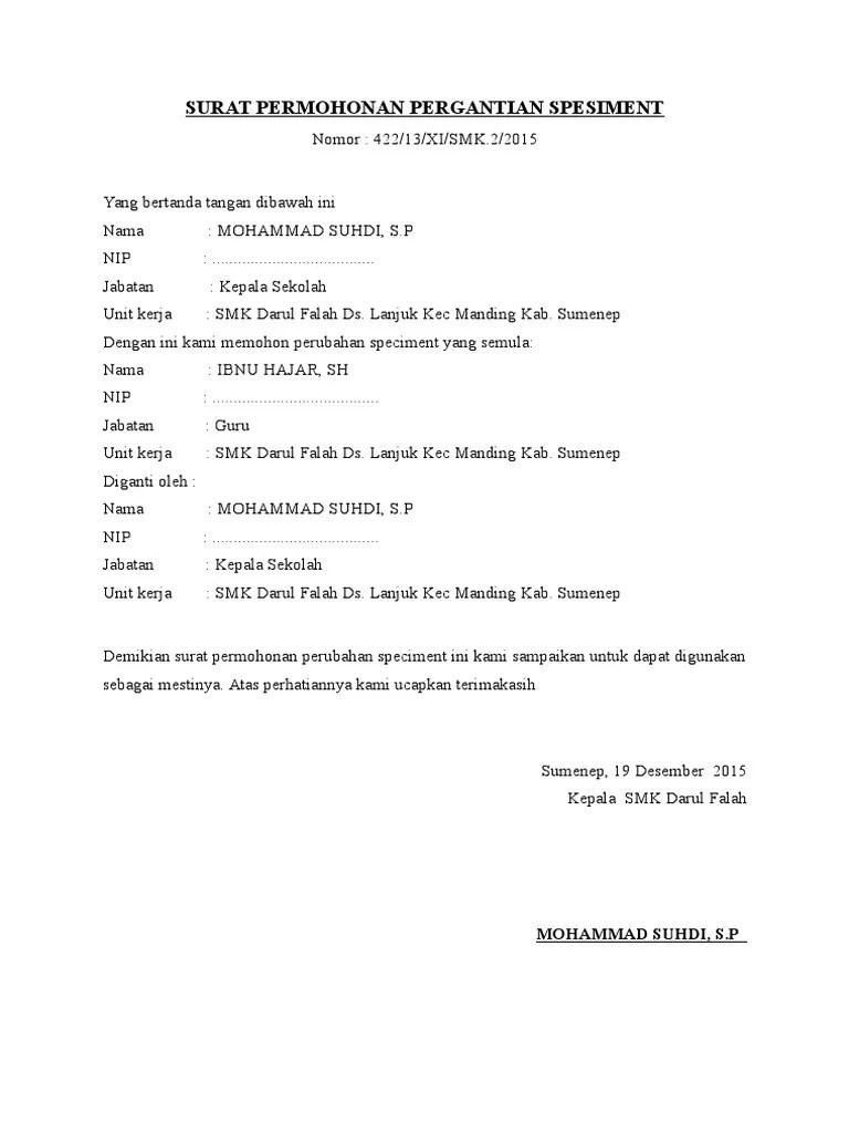 Surat Permohonan Pergantian Kepala Sekolah : surat, permohonan, pergantian, kepala, sekolah, SURAT, PERMOHONAN, PERGANTIAN, SPESIMENT.docx