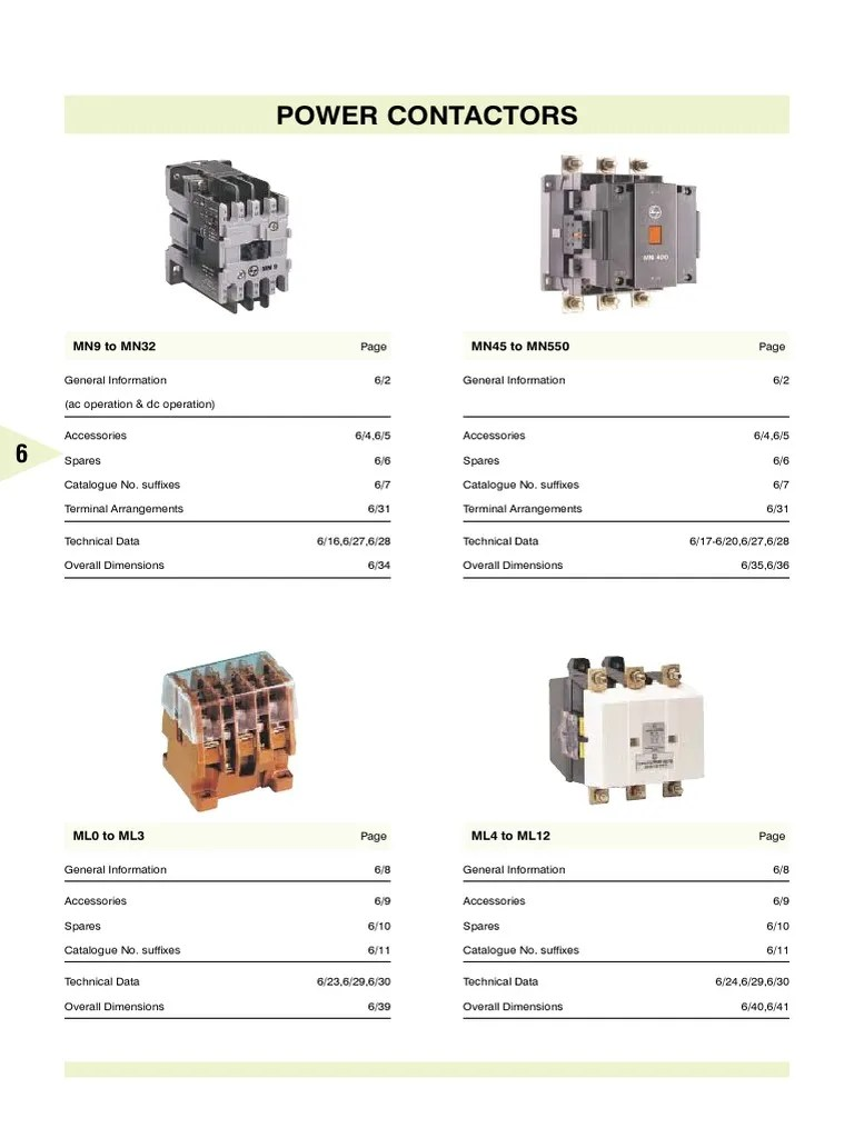 L&T Contactors Catalouge | Alternating Current | Capacitor