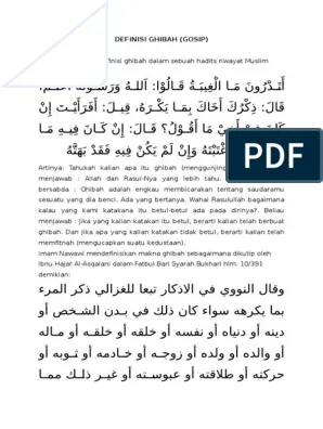 Definisi Ghibah : definisi, ghibah, DEFINISI, GHIBAH.docx
