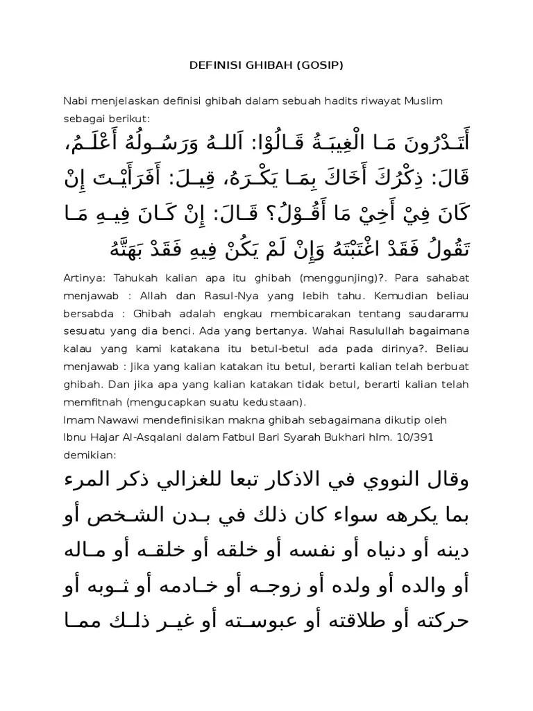 Kajian Muslimah: Ghibah