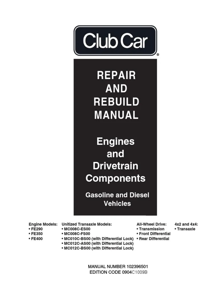 medium resolution of club car engine drivetrain repair rebuild axle transmission mechanics