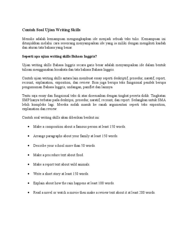 Soal Uraian Teks Deskripsi : uraian, deskripsi, Contoh, Deskripsi, Download