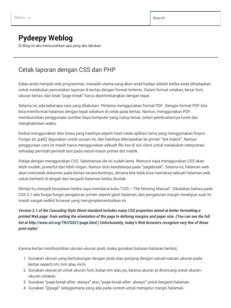 Cara Membuat Cetak Laporan Di Php : membuat, cetak, laporan, Cetak, Laporan, Dengan, Pydeepy, Weblog