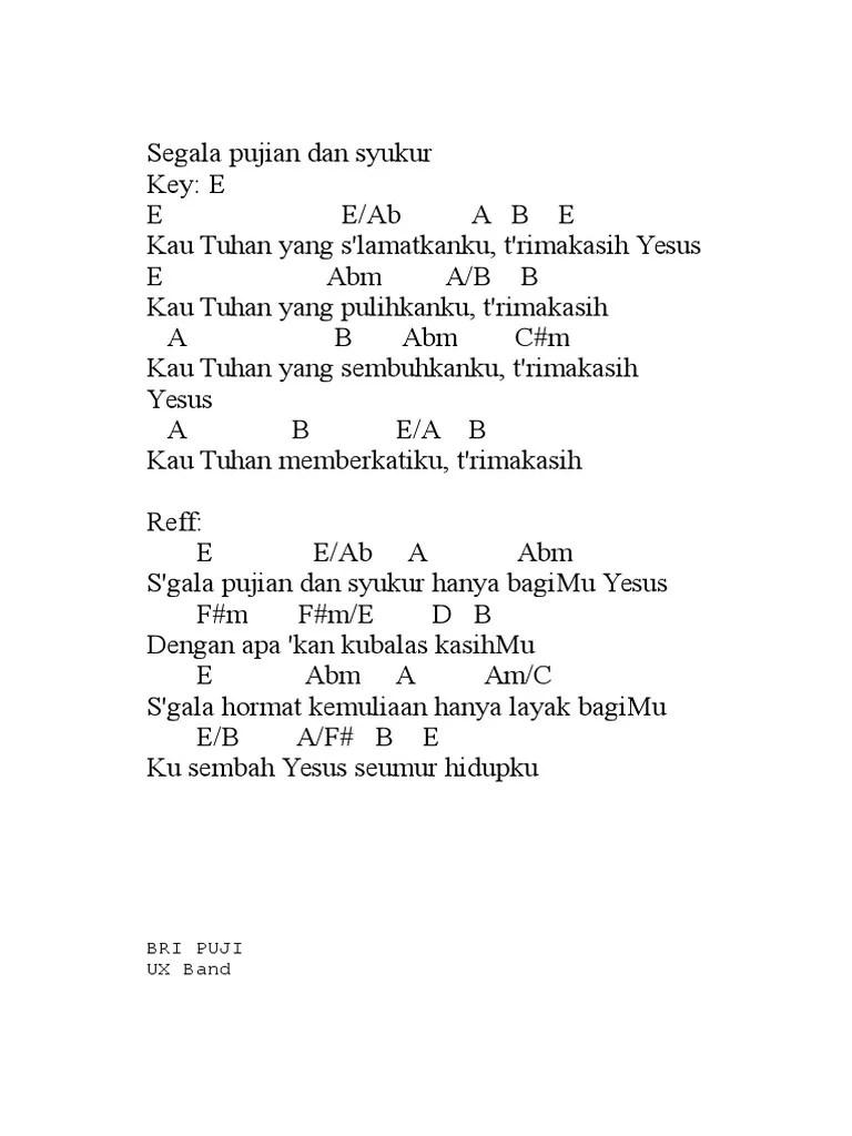 Lirik Lagu S'gala Puji Syukur : lirik, s'gala, syukur, Lirik, Dengan, Apakan, Kubalas, Tuhan