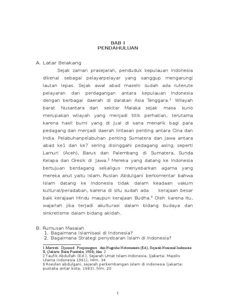 Contoh Makalah Sejarah Masuknya Islam Di Indonesia Seputar Sejarah Cute766