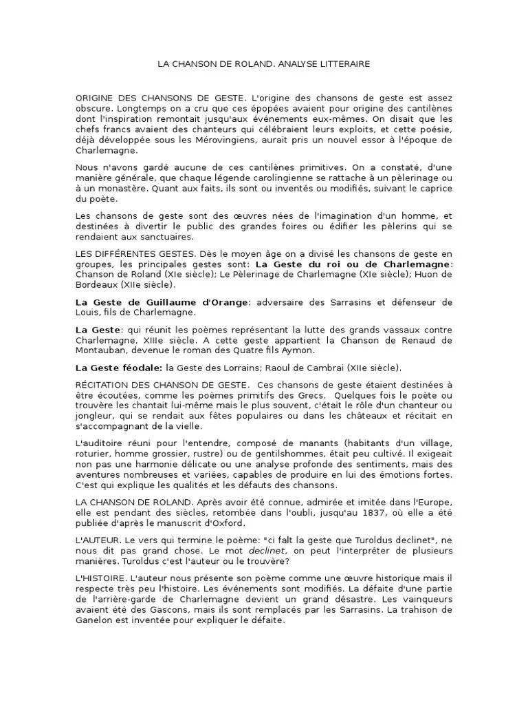 La Chanson De Roland Analyse : chanson, roland, analyse, Chanson, Roland, Littérature, Française, Médiévale, Moyen-Âge