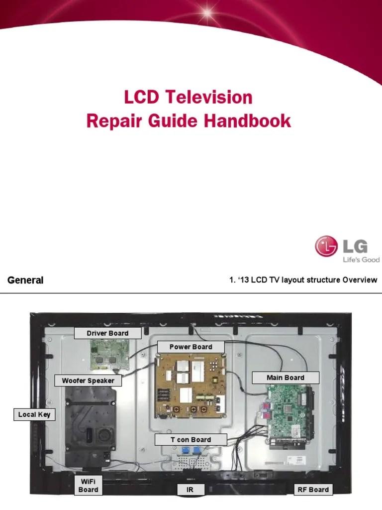 hight resolution of lcd tv repair guide handbook 140211 v1 thin film transistor liquid crystal display television