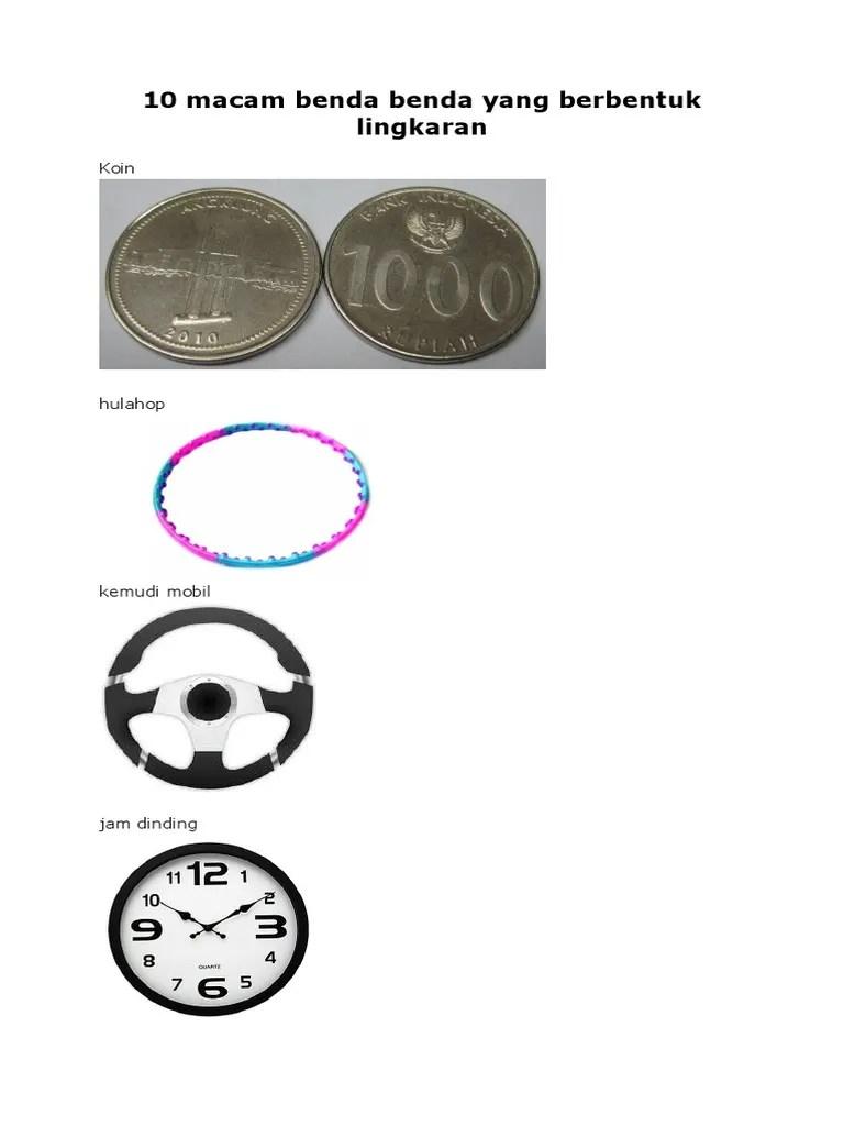 TK Islam Al Madina Semarang: Benda - benda berbentuk lingkaran