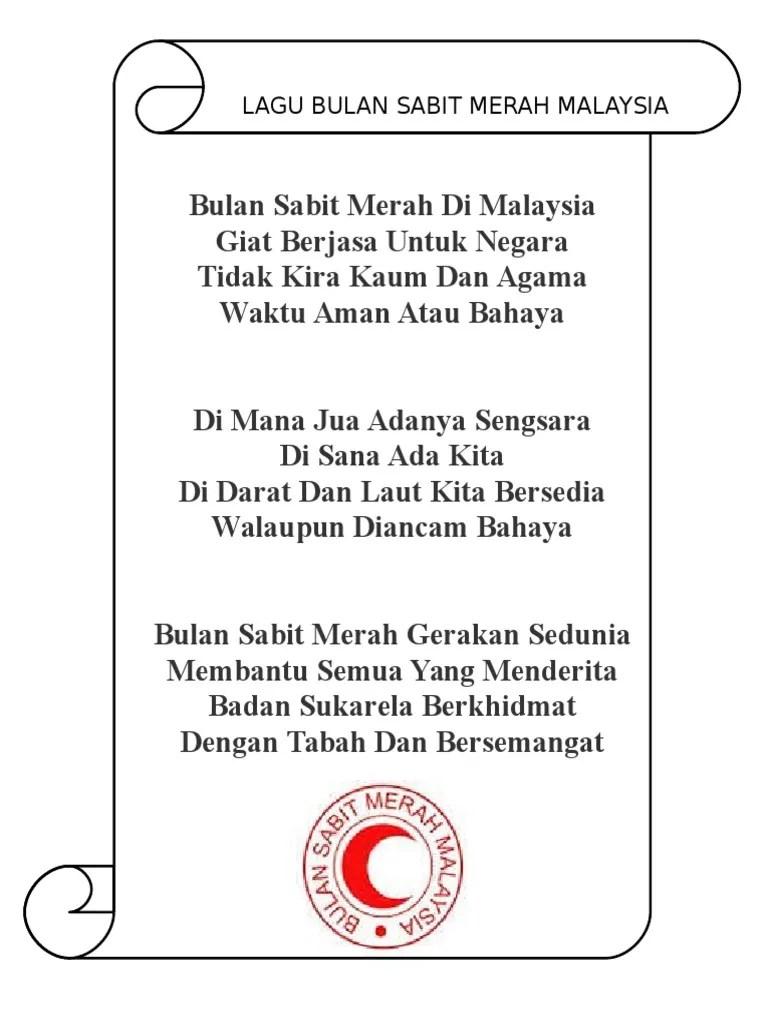 Teks Lagu Bulan Sabit : bulan, sabit, Lirik, Bulan, Sabit, Merah, Malaysia