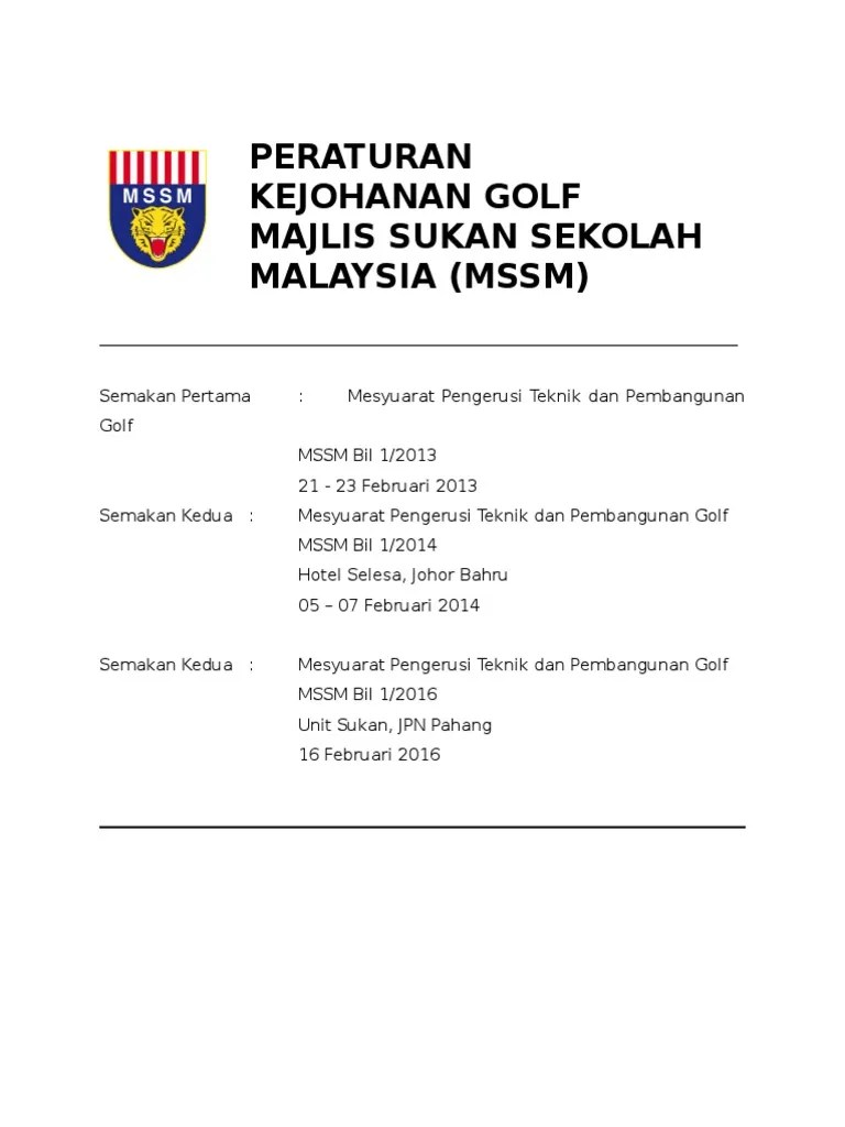 Peraturan Golf : peraturan, Peraturan, Updated