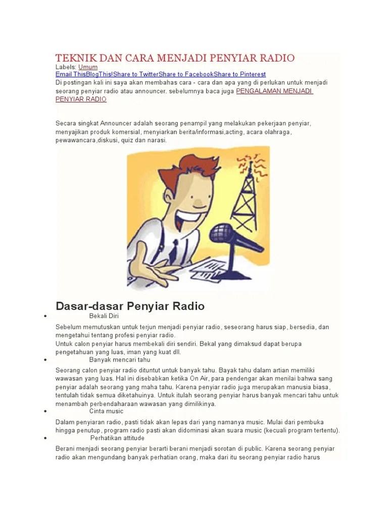 Contoh Narasi Podcast