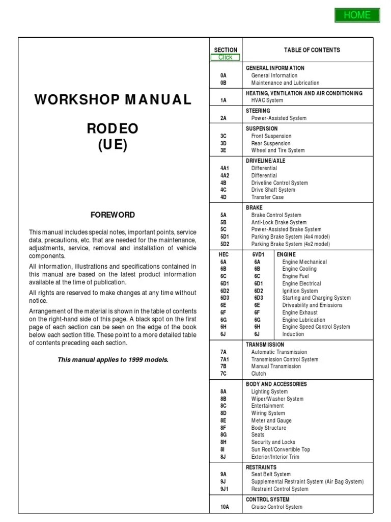 medium resolution of 1999 isuzu trooper owner manual