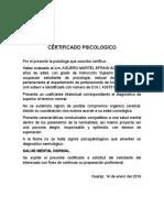 FORMATO DE CERTIFICADO MDICO