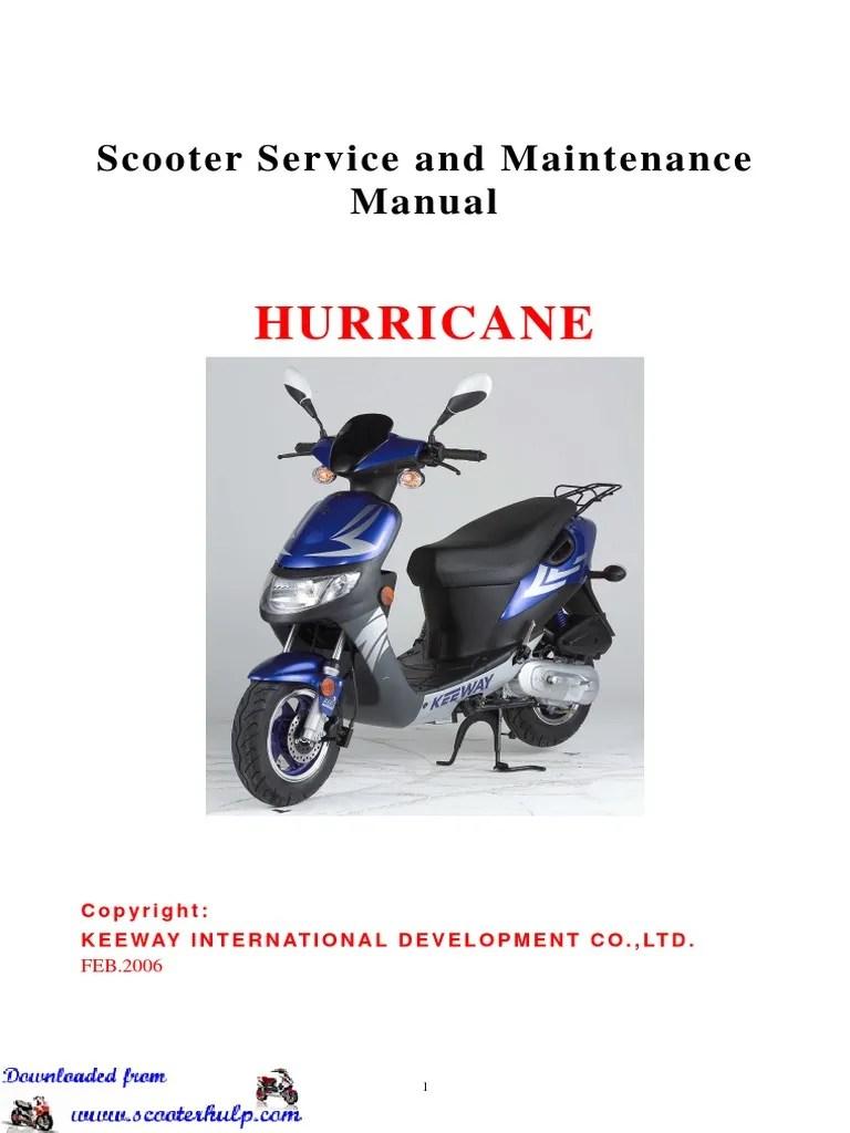 medium resolution of keeway hurricane 50cc service manual carburetor ignition system electric e scooter wiring diagram keeway scooter wiring diagram