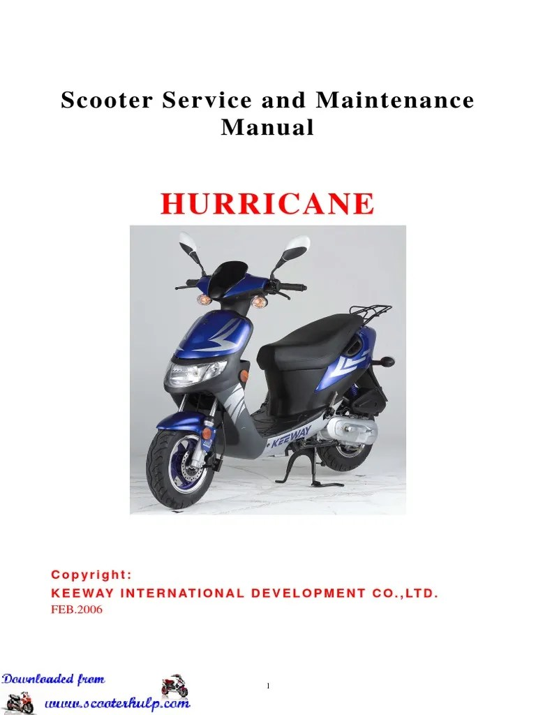 medium resolution of keeway hurricane 50cc service manual carburetor ignition system hurricane scooter wiring diagram