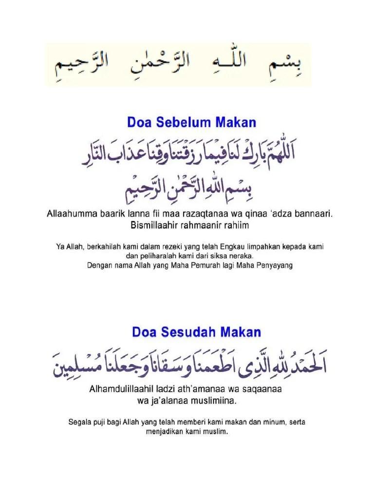 Arti Doa Sebelum Makan : sebelum, makan, Sebelum, Sesudah, Makan