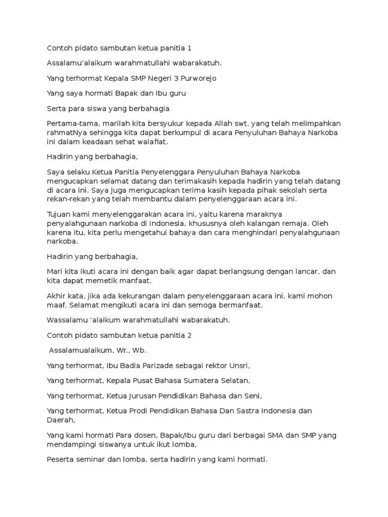 Contoh Teks Pidato Ketua Panitia Natal Terbaru Kumpulan Referensi Teks Pidato Cute766
