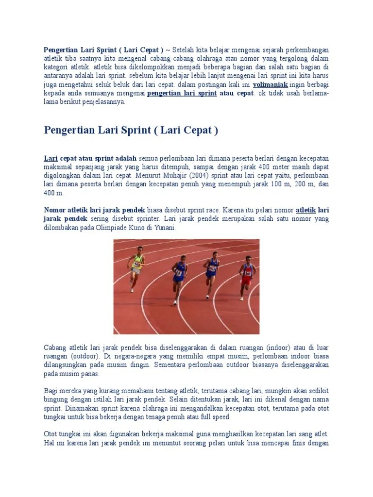 Atlet Jarak Pendek Disebut : atlet, jarak, pendek, disebut, Pengertian, Sprint