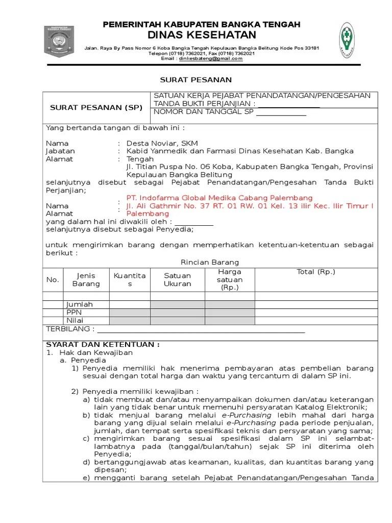 Contoh Surat Pesanan E-purchasing : contoh, surat, pesanan, e-purchasing, Surat, Perjanjian, Purchasing