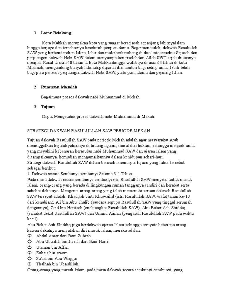 Strategi Dakwah Rasulullah Periode Mekah : strategi, dakwah, rasulullah, periode, mekah, Dakwah, Rasulullah, Periode, Mekah