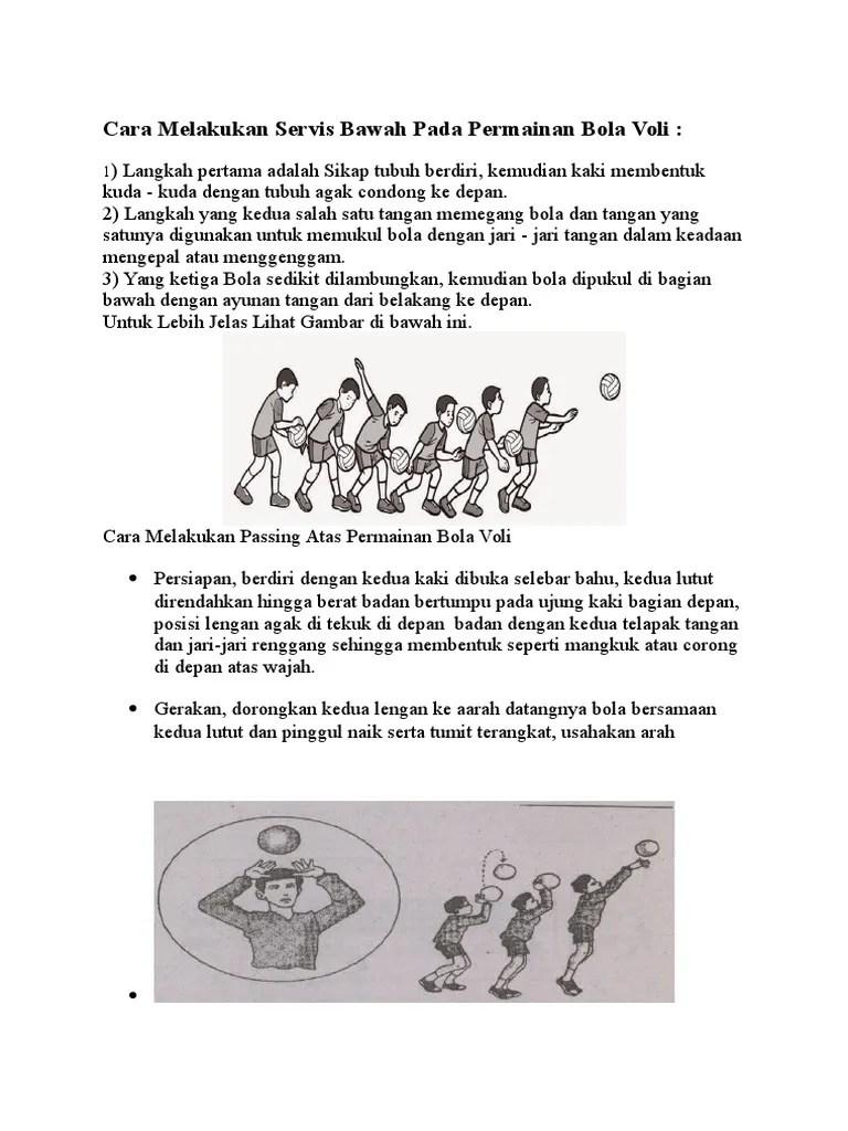 Servis Dalam Bola Voli : servis, dalam, Melakukan, Servis, Bawah, Permainan