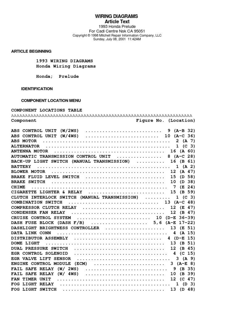 medium resolution of 92 96 prelude wiring diagrams ignition system relay 2001 prelude wiring diagram prelude wire diagram
