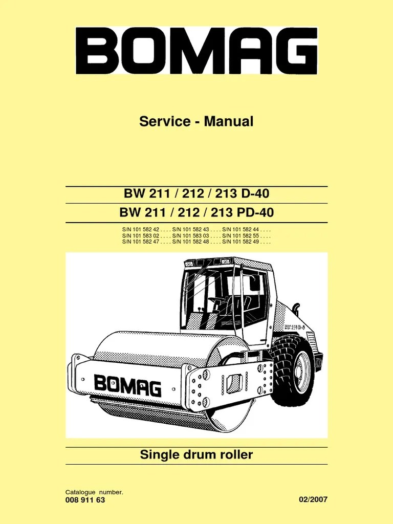 medium resolution of service manuel bw211d 40 electrical connector screw wiring bomag diagram bw211pd 3