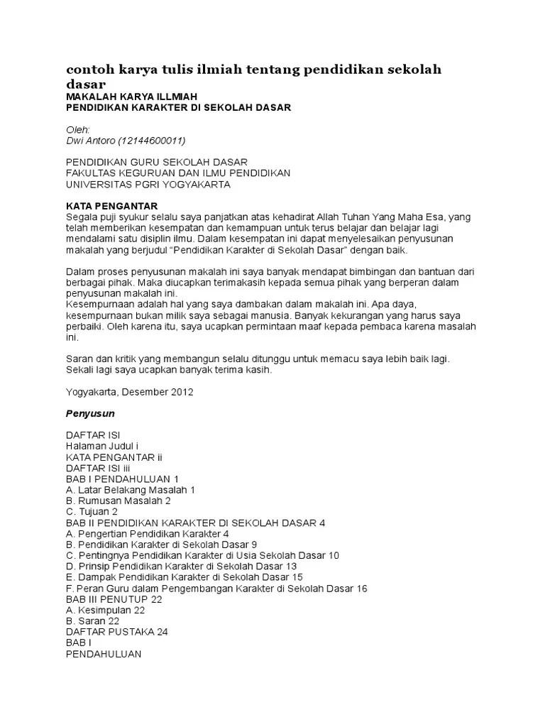 Contoh Makalah Karya Tulis Ilmiah Aneka Contoh Cute766