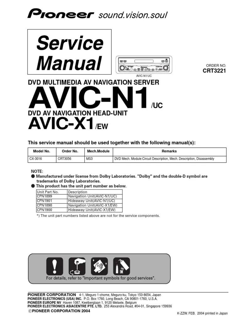 medium resolution of pioneer avic n1 diagram wiring library diagram h9 pioneer avic n1 installation manual pioneer avic n1 wiring diagram