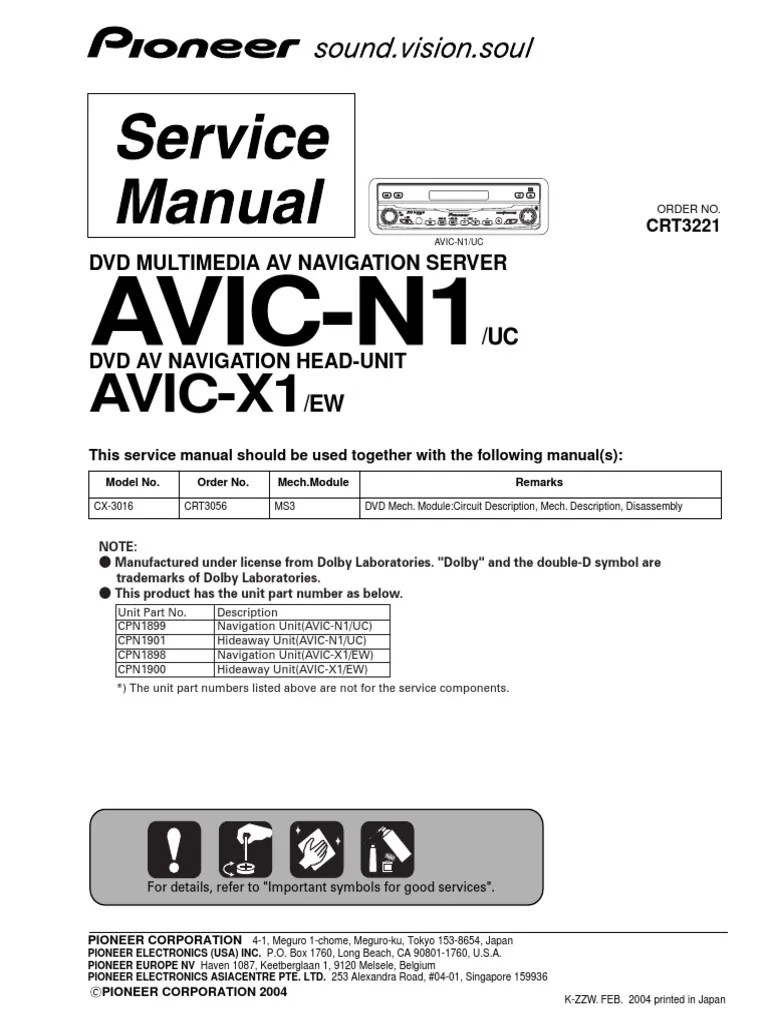medium resolution of pioneer avic n1 avic x1 pdf laser electrical connectoravic n1 wiring diagram 3