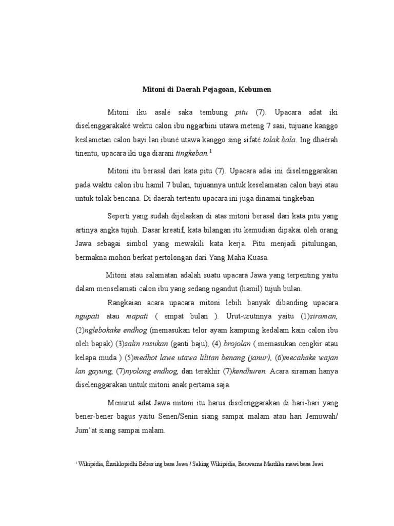 Upacara Adat Jawa Dalam Bahasa Jawa : upacara, dalam, bahasa, Upacara, Mitoni/, Tingkepan