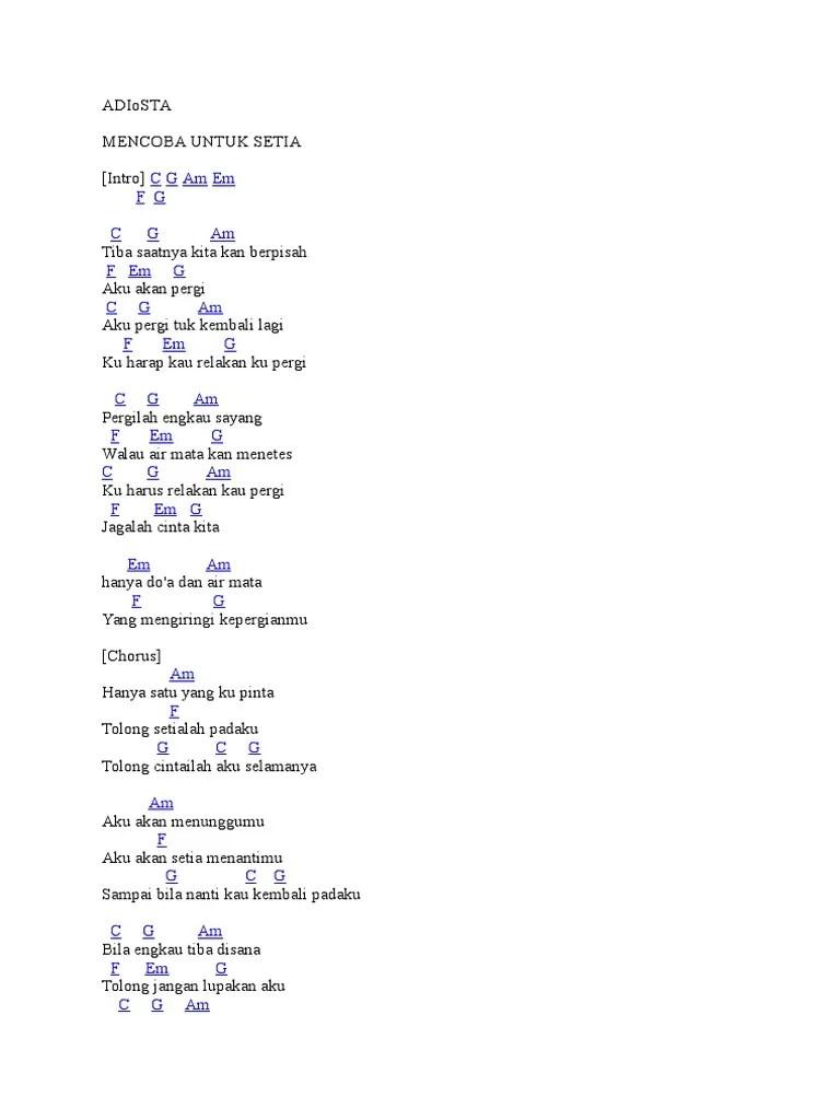 Lirik Lagu Rasa Sakit Adista : lirik, sakit, adista, Lirik, Adista, Setia, Goreng