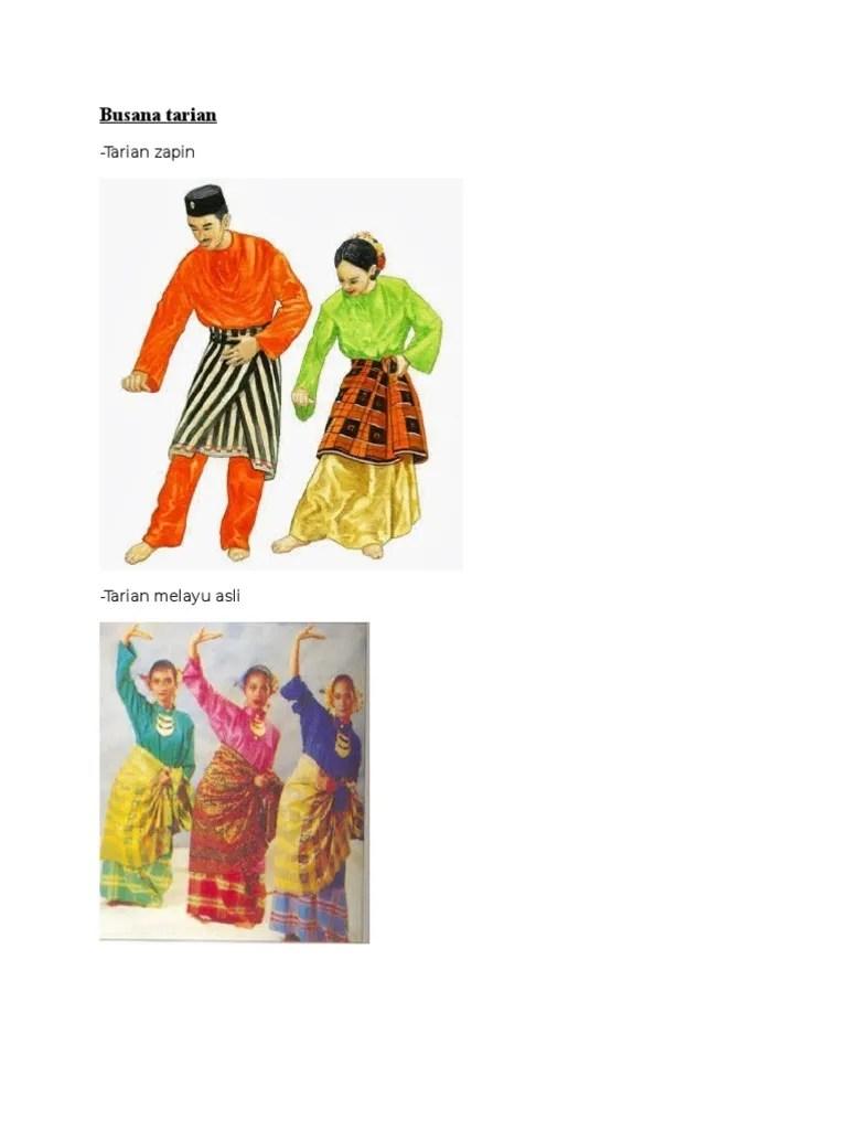 Busana Tari Zapin : busana, zapin, Busana, Tarian