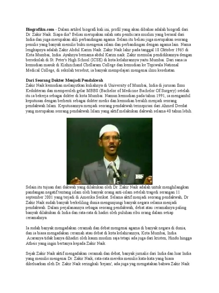Biografi Zakir Naik : biografi, zakir, Biografi, Zakir, (tugas)