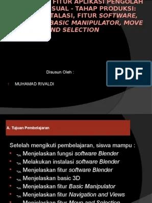 Fitur Aplikasi Blender : fitur, aplikasi, blender, Blender